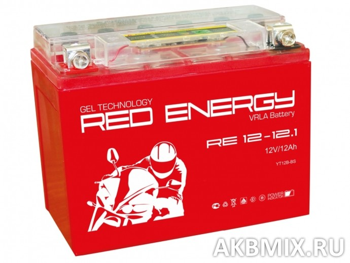 Аккумулятор Red Energy RE 12-12.1 (12V, 12Ah, 165A) [YT12B-BS]