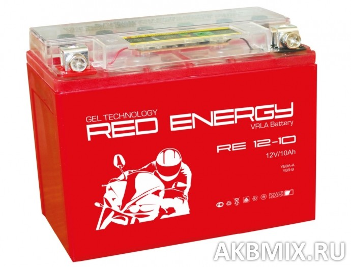 Аккумулятор Red Energy RE 12-10 (12V, 10Ah, 110A) [YB9A-A, YB9-B, 12N9-4B-1]